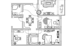 室内设计cad施工图制作图片